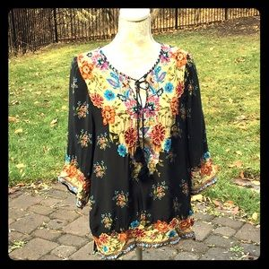 Tolani embroidered tunic
